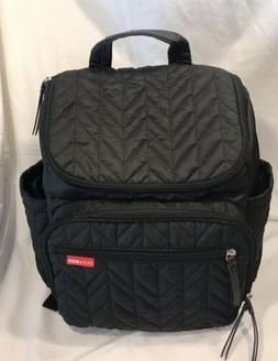 Skip Hop Forma Travel Carry Diaper Backpack, One Size, Black