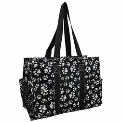 Fun Puppy Paw NGIL Large Zippered Caddy Organizer Tote Bag