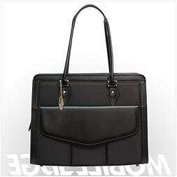 Mobile Edge Women's Black w/Black Leather Trim, Geneva 17 In