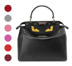 genuine leather satchel handbag hobo monster shoulder