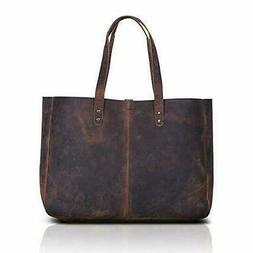 Komalc Genuine Soft Buffalo Leather Tote Bag Elegant Shopper