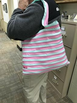 """Zip-it """"Go Big"""" Tote Bag - Mint/Pink"""