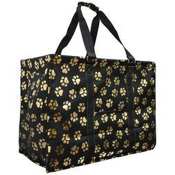 Gold Puppy Paw NGIL® Mega Shopping Utility Tote Bag