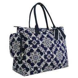 Gray/Navy Quatro Vine NGIL® Quilted Purse Overnight/Large T