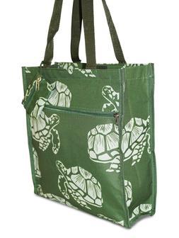 Green Turtle Womens Small Tote Bag Handbag Purse Travel Work