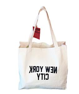 Gusseted New York City Tote Bag Lennon NYC Style Shopping Gy