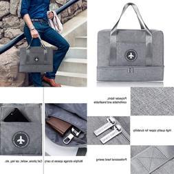 H.K Gym Bag W Shoe Compartment & Wet Pocket Sports Duffel Ba