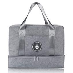 H.K Gym Bag with Shoe Compartment and Wet Pocket Sports Duff
