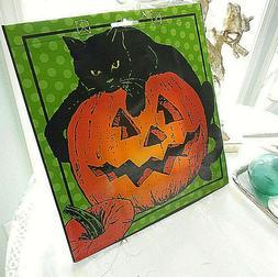❤️ HALLOWEEN pumpkin black cat Reusable CHIC Shopping To