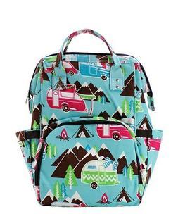 Happy Camper Camping NGIL Diaper Bag Backpack Free Ship! NEW
