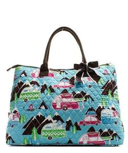 Happy Camper NGIL® Quilted Purse  Overnight/Large Tote Bag