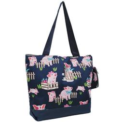 Happy Pig Town NGIL® Canvas Tote Bag