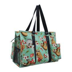Happy Sloth NGIL® Zippered Caddy Organizer Tote Bag
