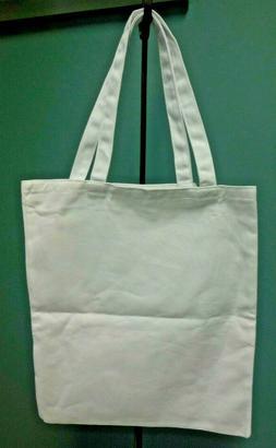 Heavy Duty Cotton Canvas White Tote Bag DIY Create Crafts Fa