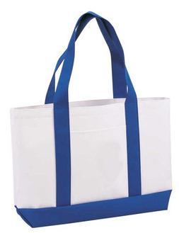 "DALIX 19"" Heavy Duty Polyester Medium Shopping Tote Bag in R"