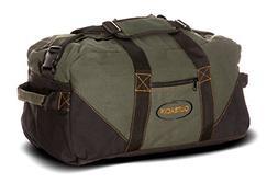 Ledmark Heavyweight Cotton Canvas Outback Gym Bag, Black/Gre