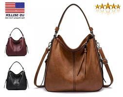 Luxury Large Hobo Women Shoulder Bag Crossbody Tote Leather