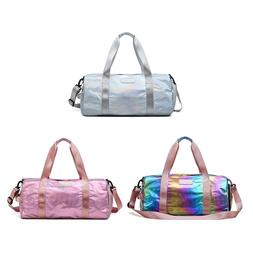 Holographic Sport Gyms <font><b>Bag</b></font> with Shoes Co