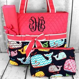 Ngil Hot Pink Whimsical Whale Quilted Diaper Bag Baby Kid's