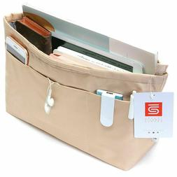 IN Multi-Pocket Travel Handbag Organizer Insert for Tote bag