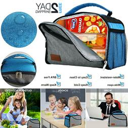 Insulated Lunch Bag Tote Box Travel Men Women Adult Food The