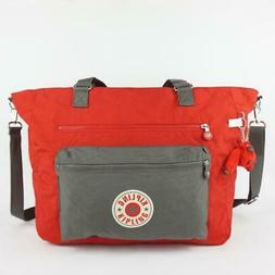 isaac nylon travel carryall tote bag cherry