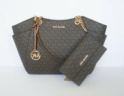 jst chain tote shoulder bag trifold wallet