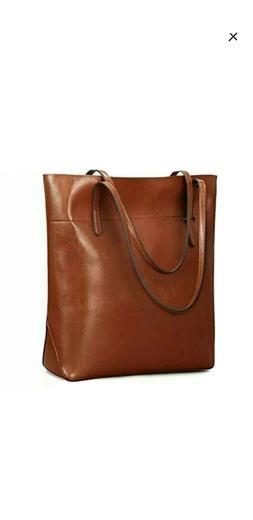 kattee genuine leather tote shoulder bag