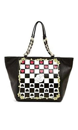 Betsey Johnson Kitch Check Me Out Tote Bag, Black One Size S