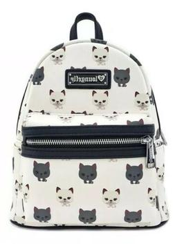 Loungefly Kitty Cat Print Vegan Faux Leather Mini Backpack P