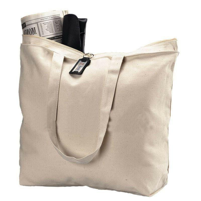 1 eco pack heavy canvas large tote