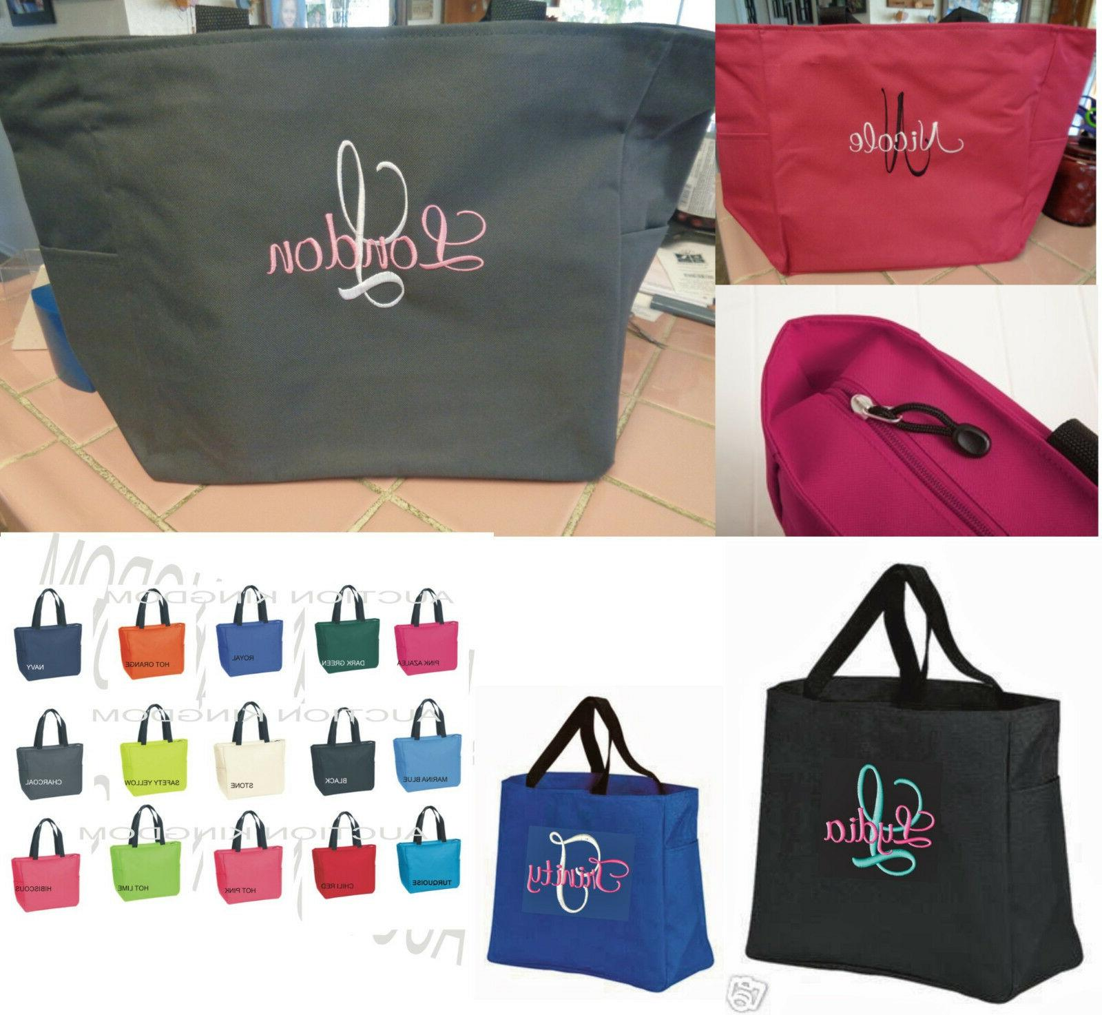 1 Personalized Tote Bag Monogram Bridesmaid Gift Wedding BRI