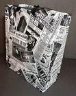 "12""x10""x5"" 10 Newspaper Print Heavy Coated Paper Shopping Gi"