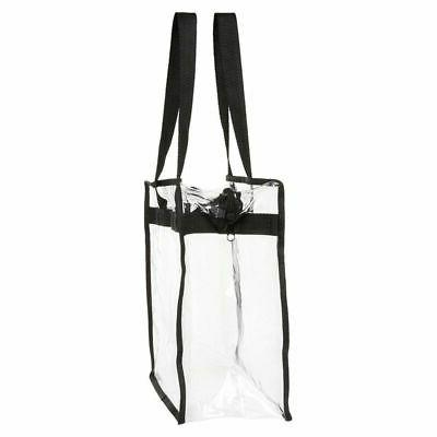 2-Pack Clear Transparent Tote Bag