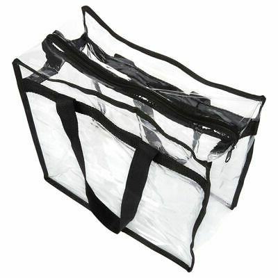 2-Pack Clear Tote Bag PVC w/Zipper Approved Should