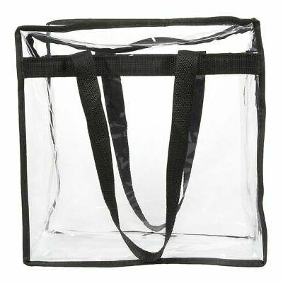 2-Pack Clear Transparent Tote Bag Approved Should Handbag