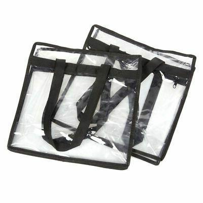 2-Pack Transparent Bag w/Zipper Stadium Approved Should Handbag