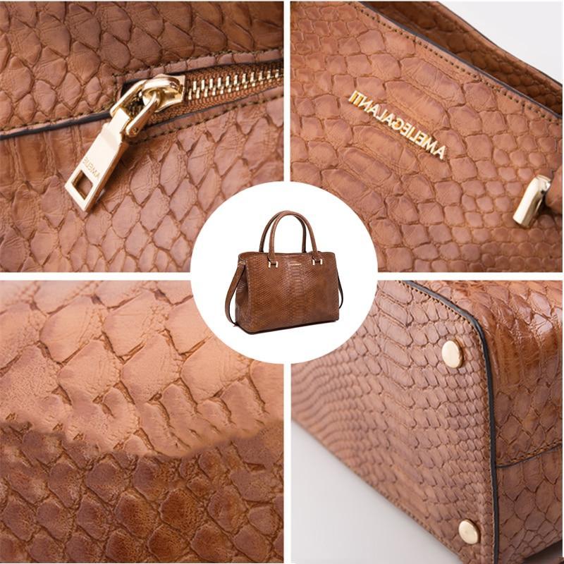 AMELIE 2018 Woman Handbag Serpentine <font><b>Medium</b></font> Size Versatile High-grade and Winter