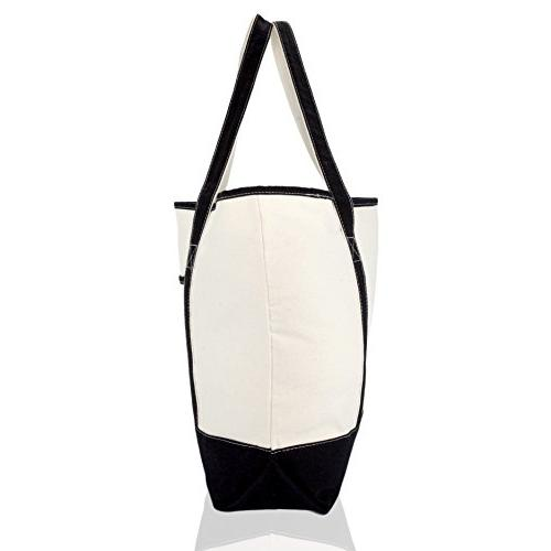 """22"""" Extra Shopping Tote with Outer in Black"""