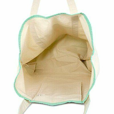 """22"""" Open Top Heavy Duty Tote with Outer Mint Green"""