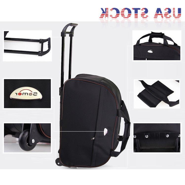 "24"" Rolling Wheeled Tote Duffel Trolley Bag USA"