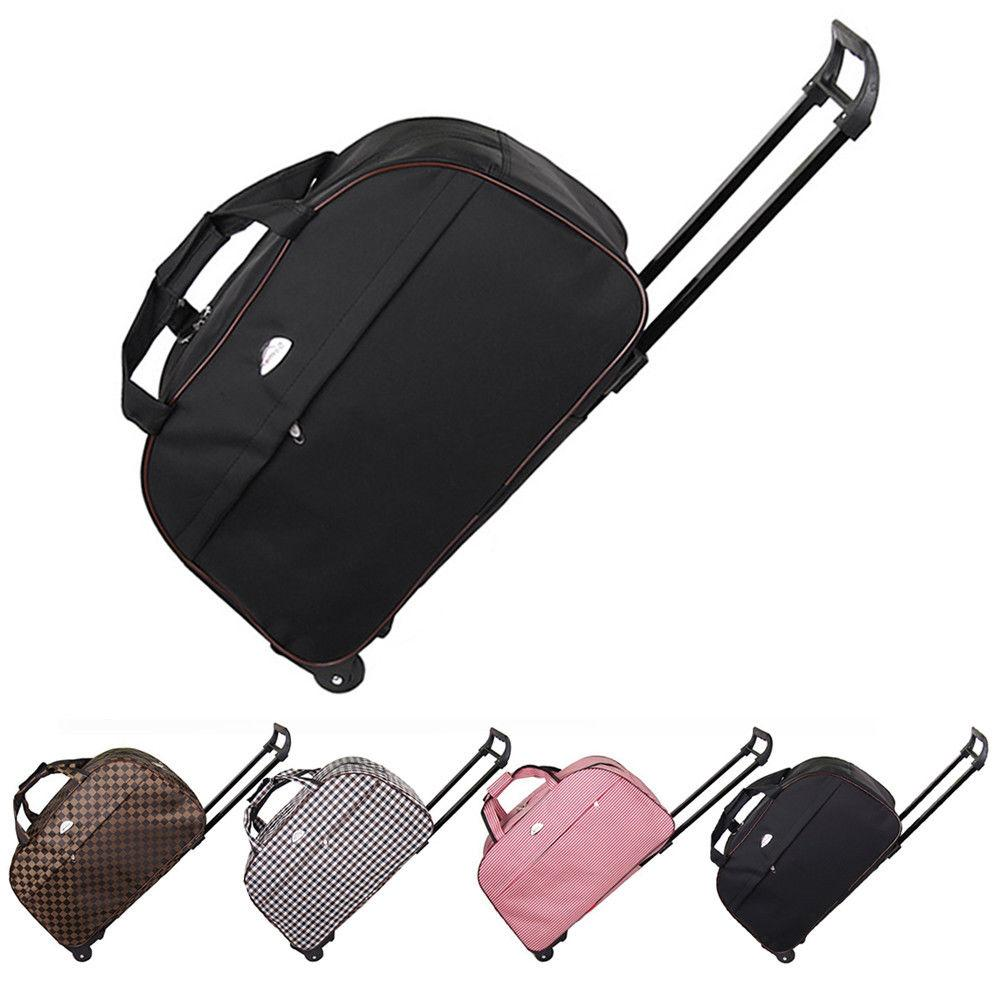 24 rolling wheeled tote duffel suitcase carry