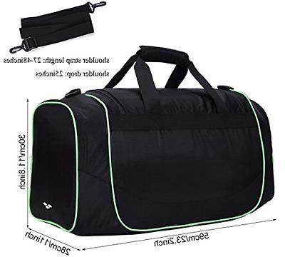 MIER Sports Duffel Bag Shoe for Black