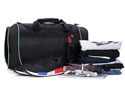 MIER Gym Bag Sports Duffel Shoe for Black