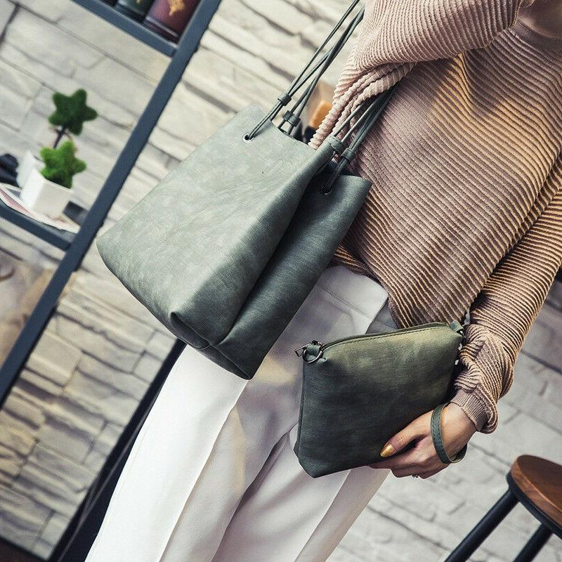 2Pcs/set Women Bag Crossbody Leather Bags Totes Handbags