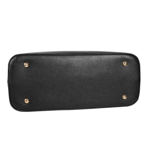 2set Women's PU Leather Handbag Large Tote Purse