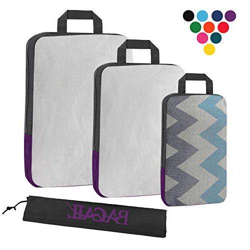 3 set compression packing cubes travel expandable