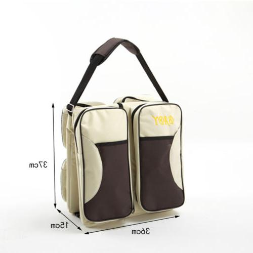 Foldable 3 in 1 Diaper Tote Bassinet Baby