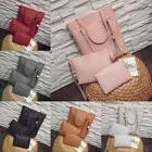 3pcs Women's Leather Handbag Lady Shoulder Bags Tote Purse M