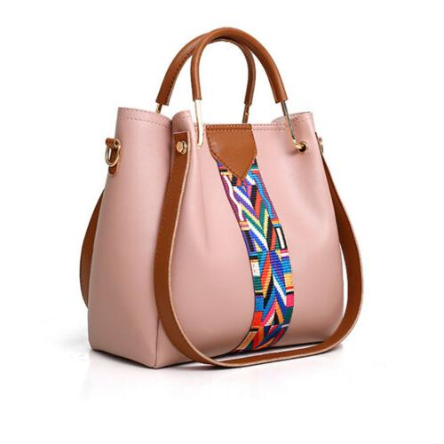 4PCS Set Women Handbag Shoulder Tote Lady Clutch Purse Wallets